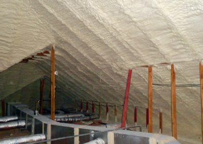 Diversified Energy Spray Foam Gallery - Attic & Roofline - Employing only proven, code-required techniques, DE customizes spray polyurethane foam insulation packages for residential and commercial attic & roof applications.