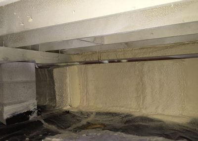 Spray Foam Gallery - Raised Floors - Employing only proven, code-required techniques, DE customizes spray polyurethane foam insulation packages for residential and commercial raised floor applications.