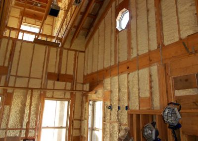 Spray Foam Gallery - Walls - Employing only proven, code-required techniques, DE customizes spray polyurethane foam insulation packages for residential and commercial wall applications.