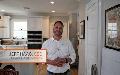 Jeff Haag, owner of Diversified Energy inspects & discusses a leaky HVAC ductwork system in a homeowner's attic.